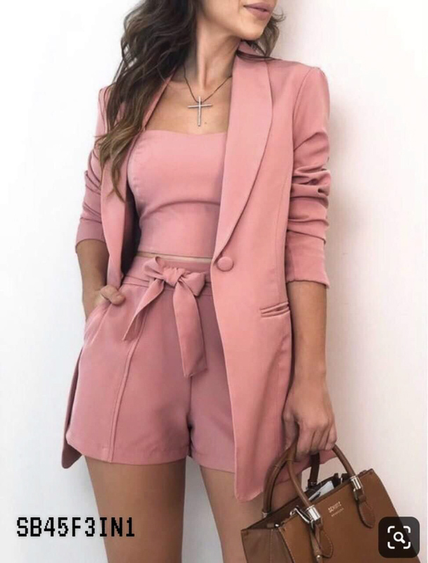 Pink Tube - Pants - Coat Set