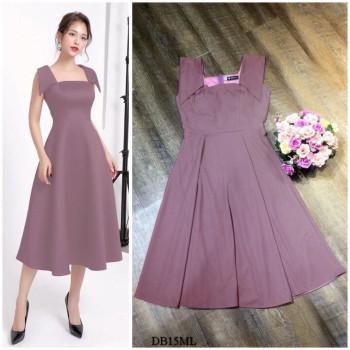 [PRE-ORDER] Gianna Midi Dress in Purple (Premium)