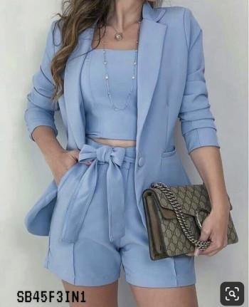 Blue Tube - Pants - Coat Set
