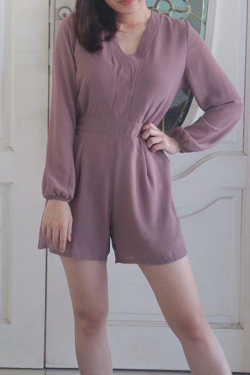 Joy V-Neck Romper in Black - HerSpace Closet