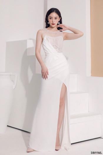 [PRE-ORDER] Zoey Maxi Dress in White (Premium)