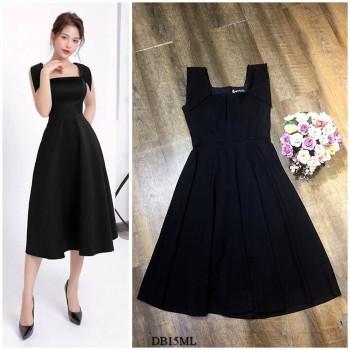 [PRE-ORDER] Gianna Midi Dress in Black (Premium)