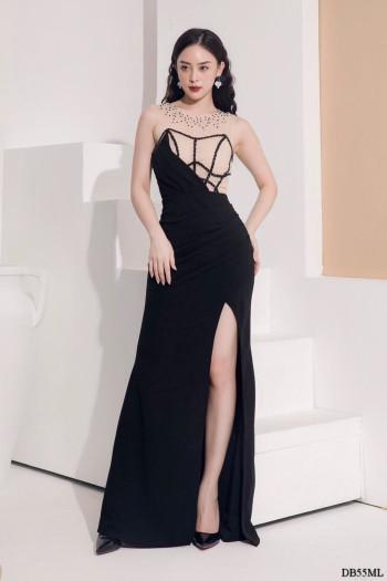 [PRE-ORDER] Zoey Maxi Dress in Black (Premium)