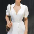 White Elegant Collar Dress - HerSpace Closet