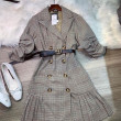 [PRE-ORDER] Naomi with Belt in Checker Dress - HerSpace Closet