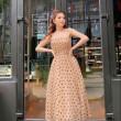 [PRE-ORDER] Kara Polka Dots Midi Dress in Brown  - HerSpace Closet