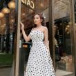 [PRE-ORDER] Kara Polka Dots Midi Dress in White - HerSpace Closet