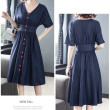 [PRE-ORDER] Molly Casual Dress in Dark Blue - HerSpace Closet
