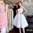 Elegant Barbie Midi Dress in White (Premium) - HerSpace Closet