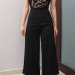 Black Lace Panel Jumpsuit (Premium) - HerSpace Closet
