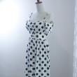 White Polka Dot Off Shoulder Dress - HerSpace Closet