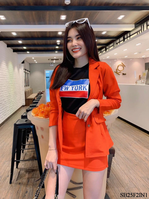 [PRE-ORDER] Sylvia 2 Pieces in Reddish Orange - HerSpace Closet