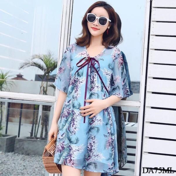 Aina Loose Mini Dress in Blue - HerSpace Closet