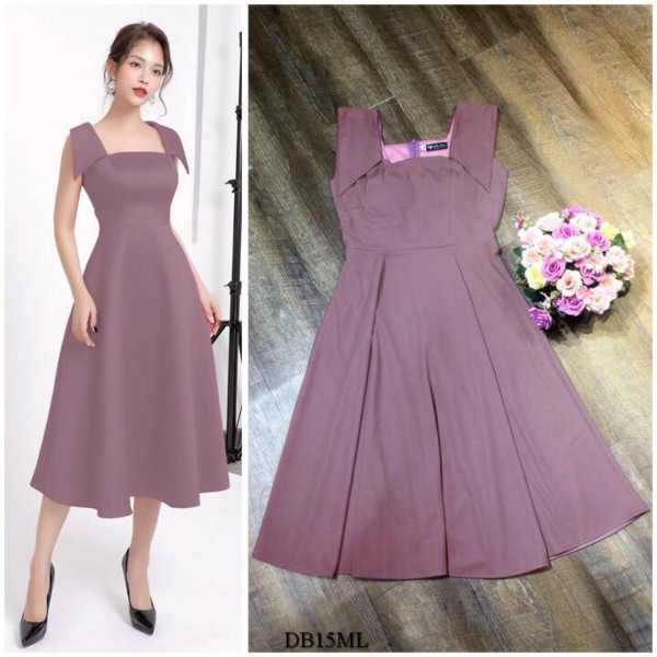 [PRE-ORDER] Gianna Midi Dress in Purple (Premium) - HerSpace Closet
