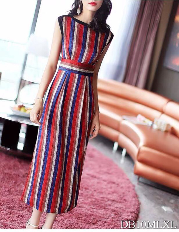 [PRE-ORDER] Freesia Stripes Dress in Red - HerSpace Closet