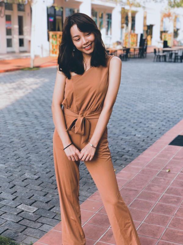 Brown Dertiny Jumpsuit (Premium) - HerSpace Closet