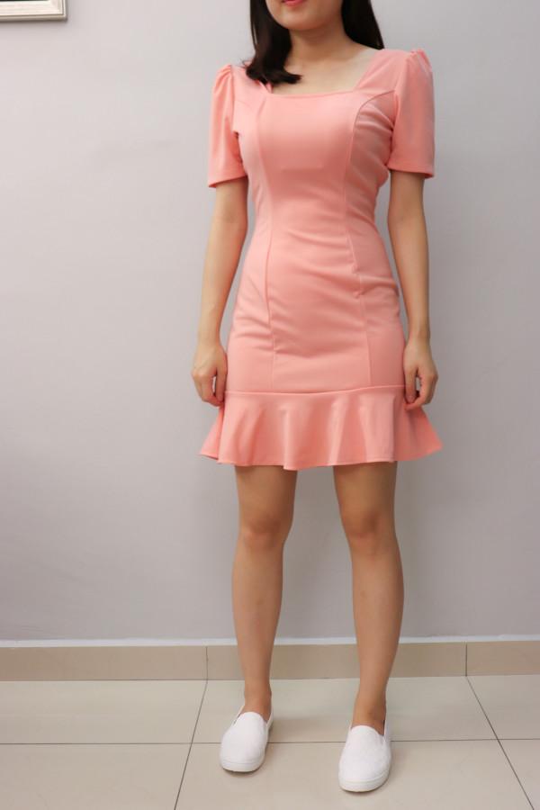 Amelia Mini Dress in Pink - HerSpace Closet