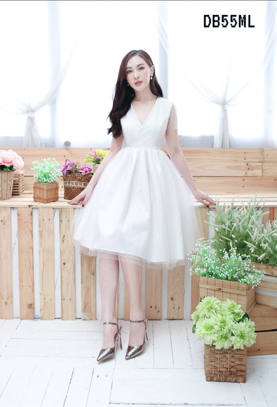 Katrina White Lacey Dress - HerSpace Closet