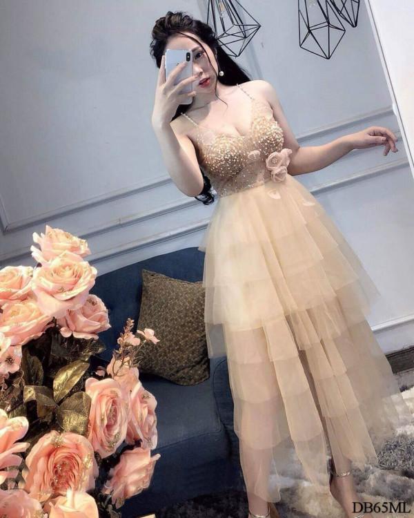 [PRE-ORDER] Elegant Ruby Midi Dress in Cream - HerSpace Closet