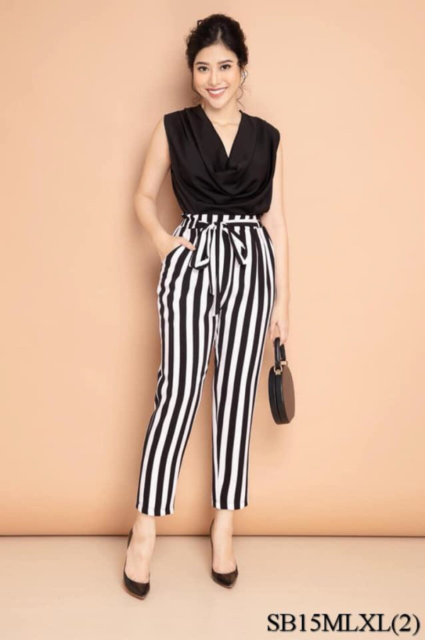 Vivi Jumpsuit in Stripes (Premium) - HerSpace Closet