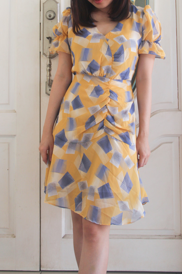 Casual Geometry Lacey Dress - HerSpace Closet