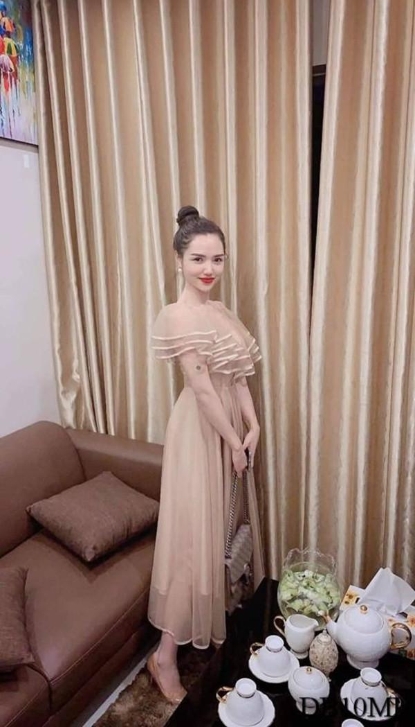 [PRE-ORDER] Lily Off Shoulder Dress in Light Brown - HerSpace Closet