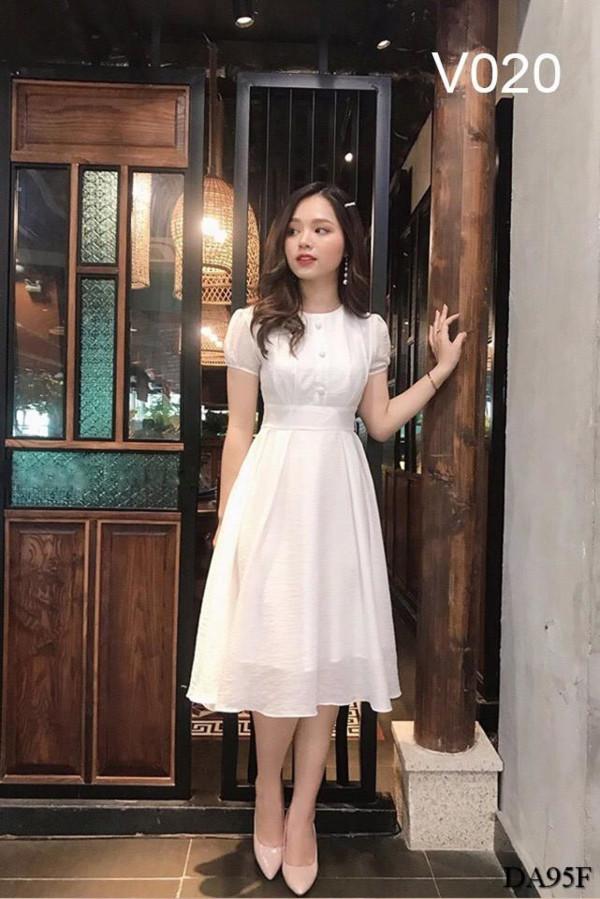 [PRE-ORDER] Leka Midi Dress in White - HerSpace Closet