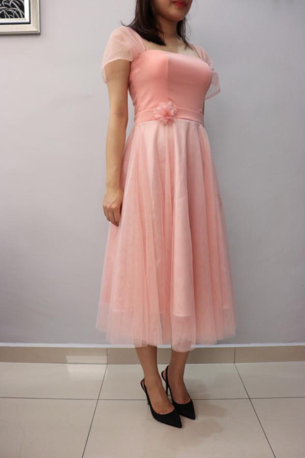Fairy Pink Midi Dress (Premium) - HerSpace Closet