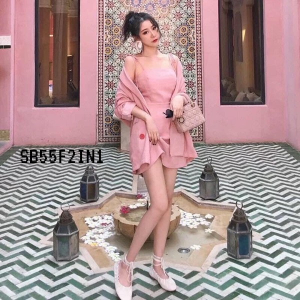 Xara 2 Pieces Set in Pink - HerSpace Closet