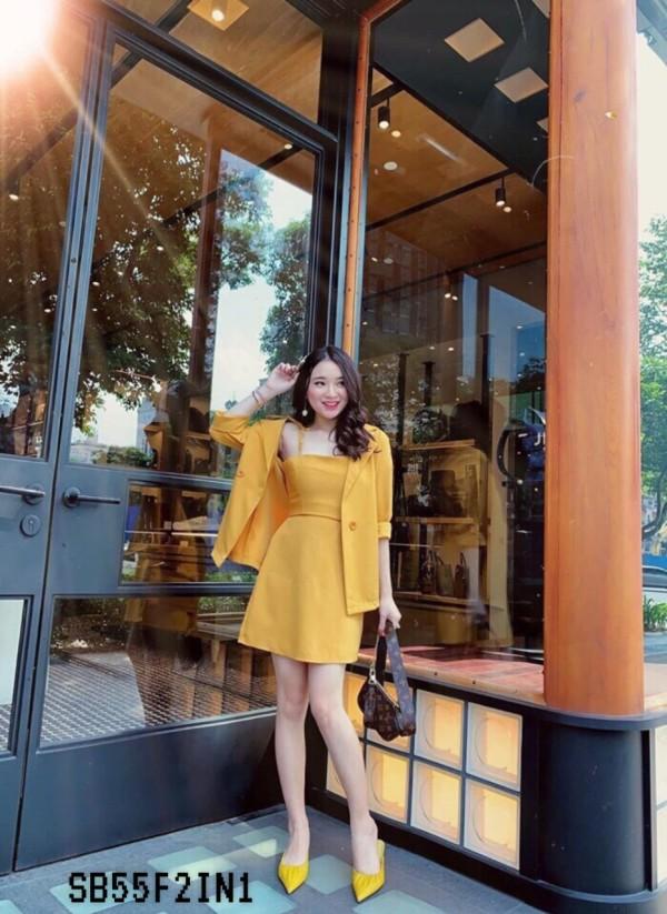 Xara 2 Pieces Set in Yellow - HerSpace Closet
