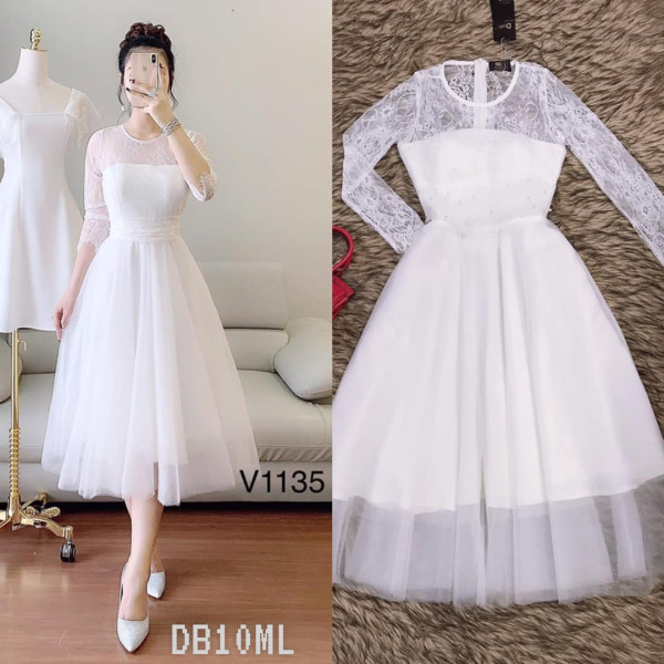 [PRE-ORDER] Carol Lacey Mifi Dress in White - HerSpace Closet