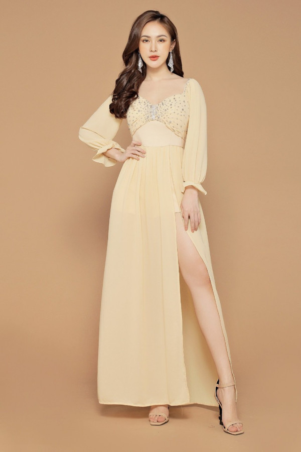 [PRE-ORDER] Yara Maxi Dress in Milk - HerSpace Closet