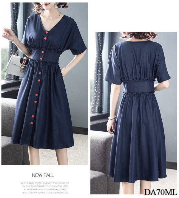 [PRE-ORDER] Molly Casual Dress in Dark Blue - HerSpace Closet