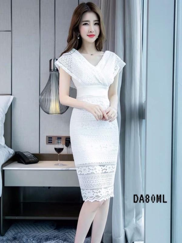 Belinda Midi Dress in White - HerSpace Closet