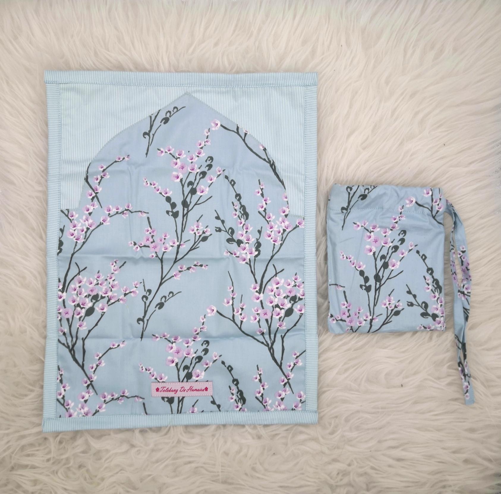 [PREORDER] Sejadah Poket De Humaira (Sakura Baby Blue)