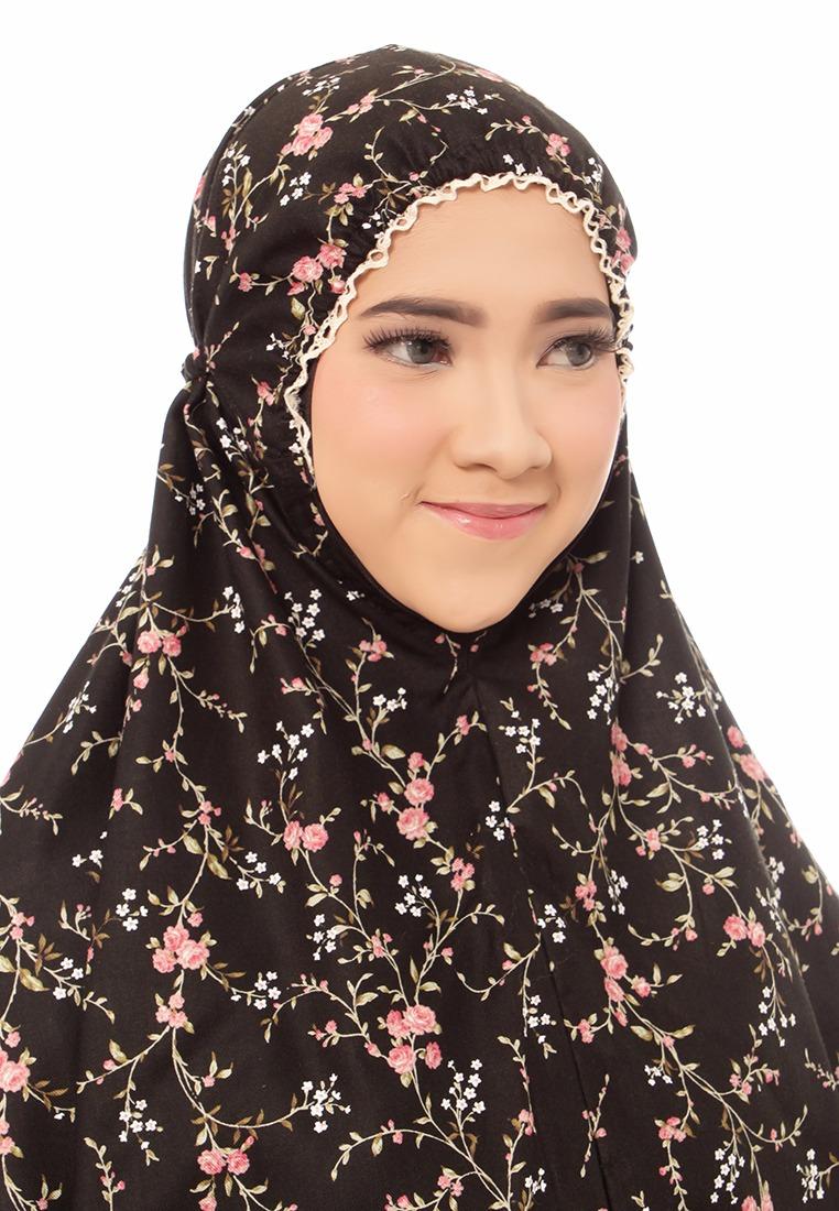 Telekung De Humaira Blossom in Black