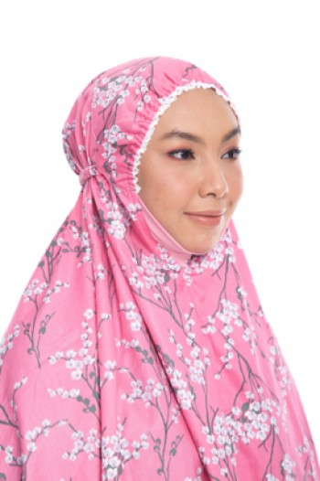 Telekung De Humaira Sakura Dark Pink