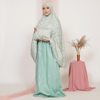 Telekung De Humaira Rosie Bunch in Green