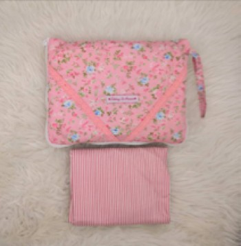 [PREORDER] Telekung De Humaira Rose Garden Pink L (9-12 tahun)
