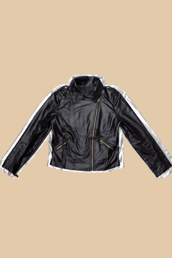 MEKNIS THE LABEL - Korean Leather Jacket - Black