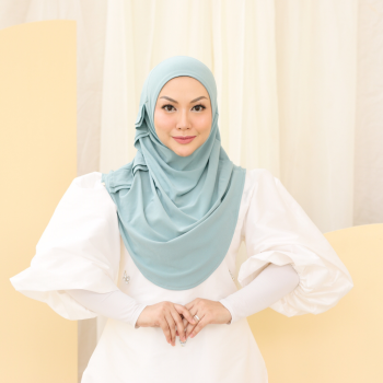 MEKNIS THE LABEL Yeoja Instant Hijab - Dusty Turqoise