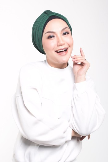 MEKNIS THE LABEL - Denim Turban - Green - MEKNIS