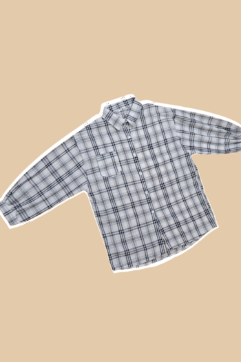 MEKNIS THE LABEL - Checkered Shirt with Puffed Sleeve