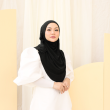 MEKNIS THE LABEL Yeoja Instant Hijab - Black - MEKNIS