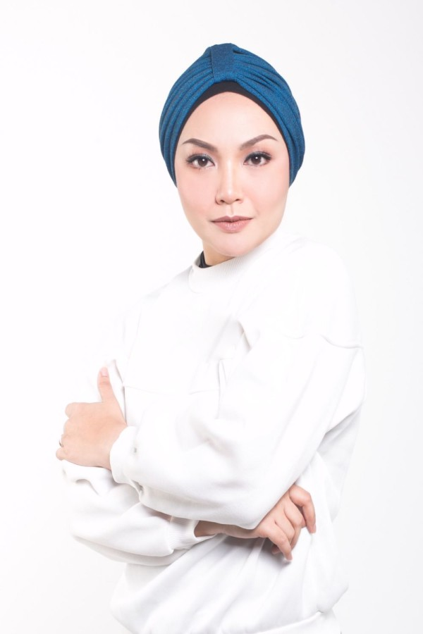 MEKNIS THE LABEL - Denim Turban - Blue - MEKNIS