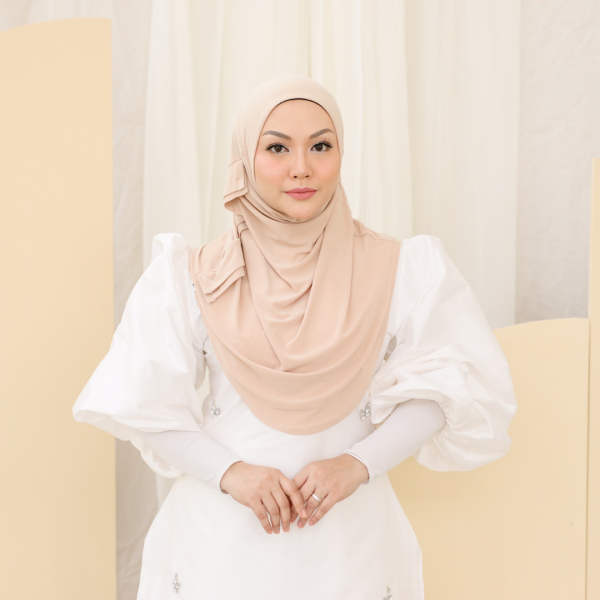 MEKNIS THE LABEL Yeoja Instant Hijab - Beige - MEKNIS