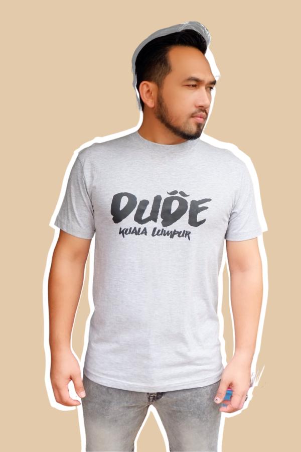 DUDE COLLECTION - Short Sleeve Tshirt - Grey - MEKNIS