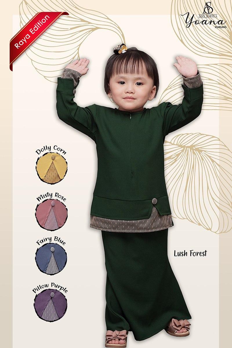 Yoana Kurung Lush Forest (Kids)