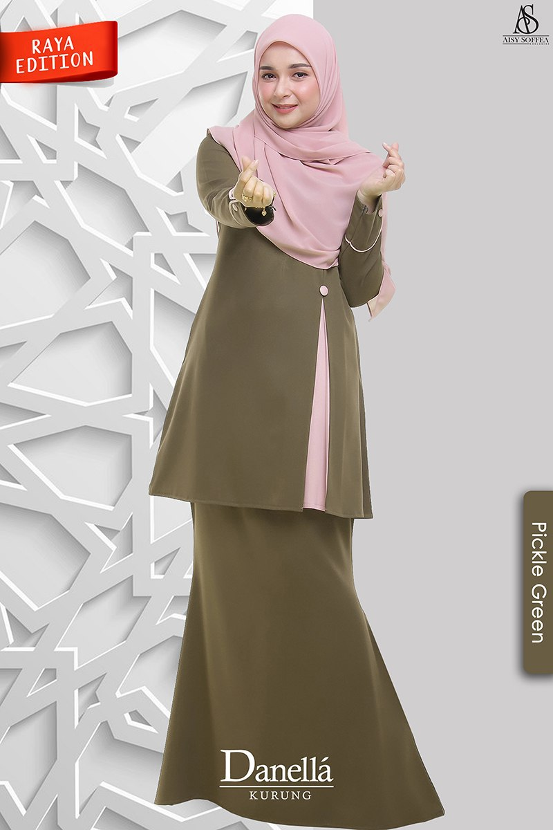 Danella Kurung Pickle Green