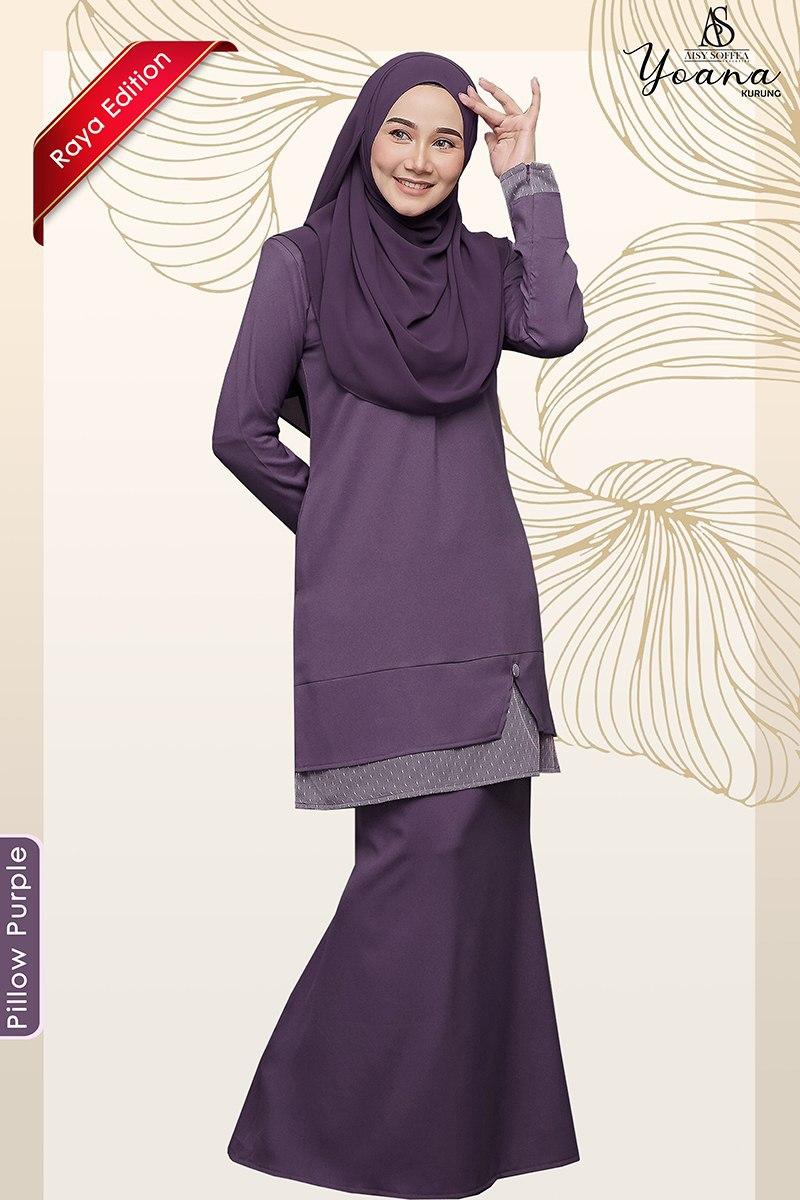 Yoana Kurung Pillow Purple